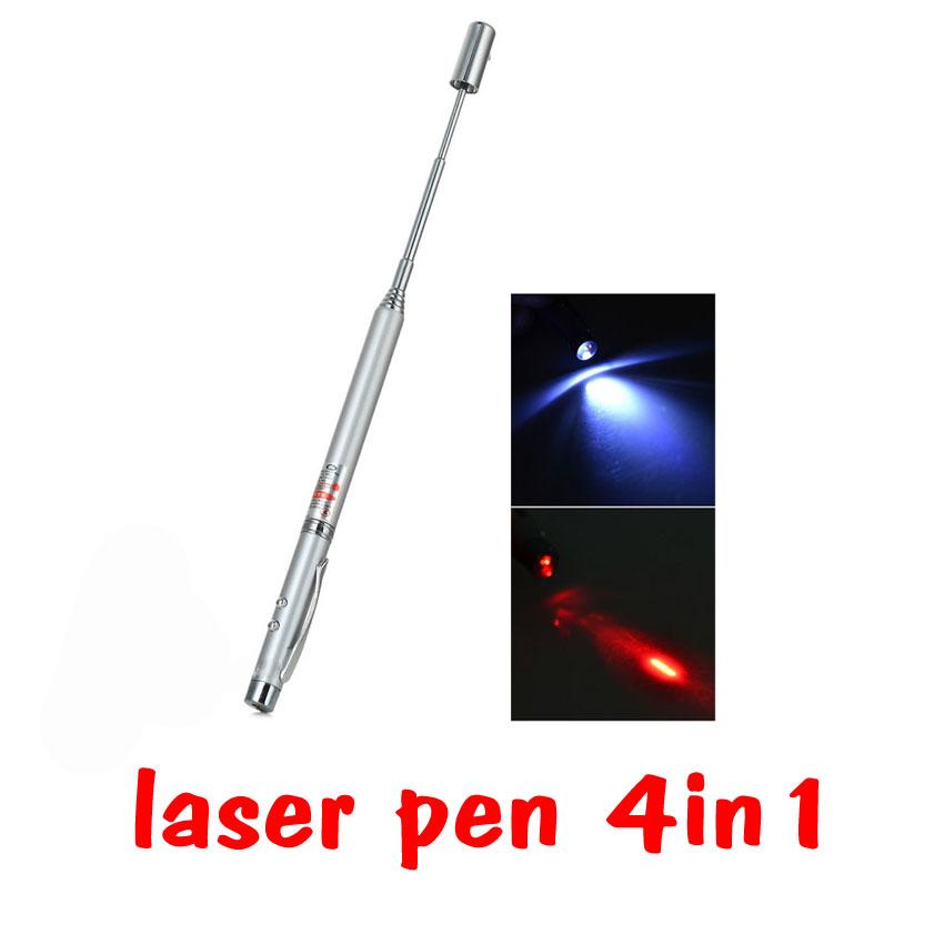 Laser pen pointer 4in1 เลเซอร์สีแดง ไฟแอลอีดีสีขาวเป็นปากกาด้วย